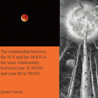 The relationship between the sun and the moon